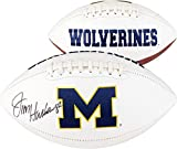Jim Harbaugh Michigan Wolverines Autographed White Panel Football - Fanatics Authentic Certified - Autographed College Footballs