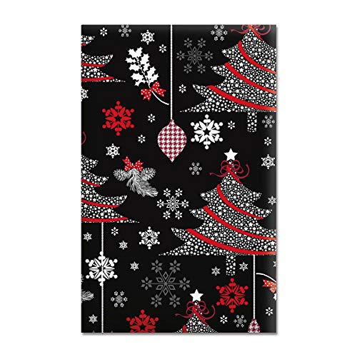 Decked Out Decor Jumbo Rolled Gift Wrap - 1 Giant Roll, 23 Inches Wide by 35 feet Long, Heavyweight, Tear-Resistant, Holiday Wrapping Paper