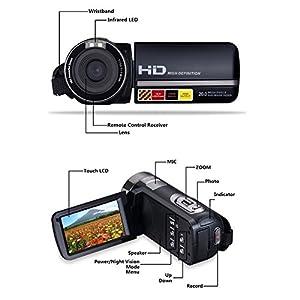 Digital Camera Camcorder DIWUER HD 1080P IR Night Vision 24.0 MP Camera with DV 3.0 TFT LCD Rotation