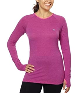 e0024ac65 Champion C9 Womens Long Sleeve Semi-Fitted Peformance Shirt (X-Small ...