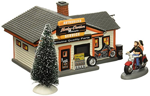 Department 56 Harley-Davidson Village Service Shop Lit House Dept 56 Harley Davidson