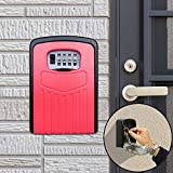 Key Lock Box Large Password Lock Box Security Anti-Theft Box Wall Cabinet Safety Box (Orange),StarLightd (Color : Red)