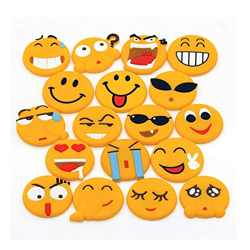 Bloss 18 Pack Emoji Fridge Magnets Refrigerator Magnets Cute Magnets Whiteboard Magnets Office Magnets for Magnetic Whiteboards Dry Erase Boards Office Cabinets Kitchen by Bloss