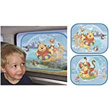 Winnie The Pooh - Sunscreen / Sun Blinds / Sunshade Set (2 Sunscreens - Pooh & Pooh & Friends)