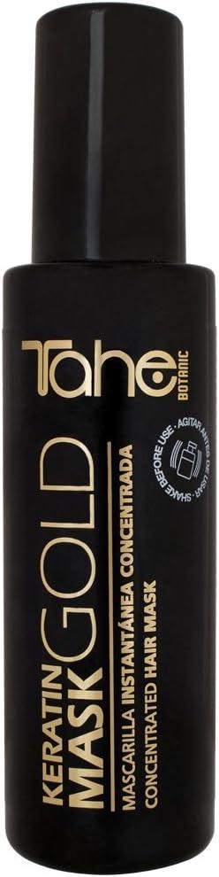 Tahe Keratin Gold Mascarilla Pelo Profesional Concentrada de Efecto Instantáneo con Oro Líquido y Keratina, 125 ml