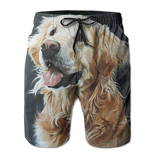 Retriever Mens Shorts - Gentleman Cute Golden Retriever Dog Short Pants