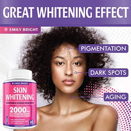 Glutathione Whitening Pills - 2000mg Glutathione - Better than Skin Lightening Cream - Dark Spots & Acne Scar Remover… 4