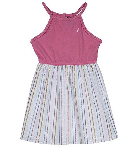 - Nautica Girls' Little' Spaghetti Strap Fashion Dress, Bubble Pink Lurex, 6
