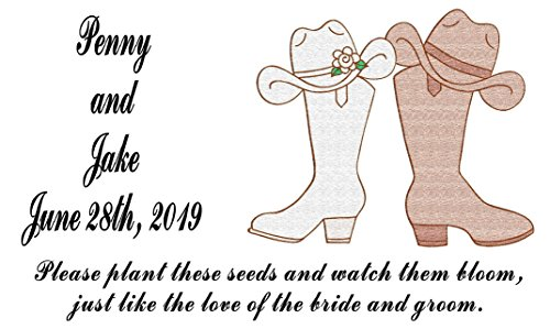 (Personalized Wedding Favor Wildflower Seed Packets Western Design 6 verses to choose from Set of 100)