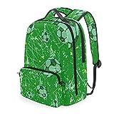 CIKYOWAY Fashion Detachable Soccer Football Design Template Tactics Diagram Daypack for Travel Teen Girls Weekend Outdoor Camping Bag