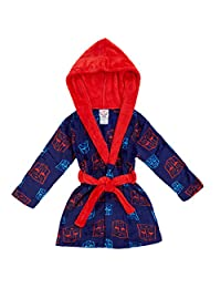 Superhero Toddler Boys' Velvet Fleece Hooded Robe Pajama, 4T, Transformers
