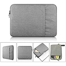 """Protective Sleeve Case Bag for LED Light Pad Board Box A4 Tablet of 5D Diamond Painting Kit Laptop MacBook Air Pro 13"""" 13.3"""" with Storage Pocket (Protective Case Grey)"""