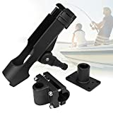PLUSINNO Fishing Boat Rods Holder with Large Clamp Opening 360 Degree Adjustable Fishing Rod Racks Folding Holder
