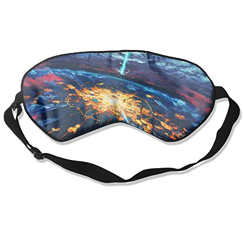 WUGOU Sleep Eye Mask Fantasy Landscape Horizon Clouds Lightweight Soft Blindfold Adjustable Head Strap Eyeshade Travel Eyepatch]()