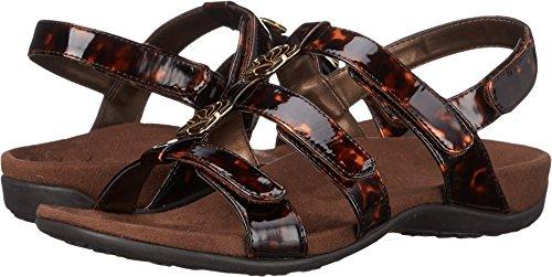 Vionic Womens Rust Amber Open Toe Casual Slide Sandals