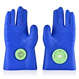 MagneChef Ez On – Ez Off BBQ GLOVE / MITT Patented Magnet / Web Finger Fit Grip Waves Heat Resistant Water Resistant Food Grade Silicone Cooking Glove Grilling Frying Baking Smoking Dishwasher Safe Review