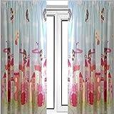 """Fairy Castle Curtains 66"""" x 54"""" - Girls Fairytale Bedroom"""
