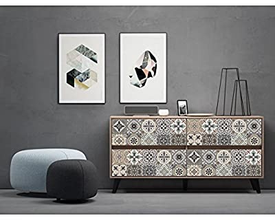 VENECIA Decorative Tile Stickers Set 12 units 6x6 inches. Peel & Stick Vinyl Tiles. Backsplash. Home Decor. Furniture Decor.
