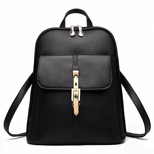MSZYZ Bolso bolsa de mujer dulce Señora moda bolso trasero,negro