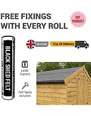 BillyOh Waterproofing Shed Roofing Felt - Black - 8m