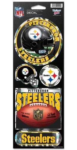 Wincraft NFL Pittsburgh Steelers Prismatic Stickers, Team Color, One Size -