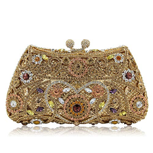 Women Clutch Women's Superw Bags Bag Handbag Alloy Evening Party B Crossbody Handbag Wedding Metal Cocktail Bling qPxwxEd4U