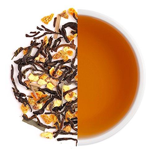 Teabox Orange Sorbet Iced Tea Mix 3.5oz (20 Cups) from India | 100% Natural Ingredients: Black Tea, Orange Peel, Lemongrass, Citric Acid | Unsweetened, Pure Mix