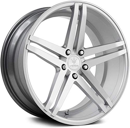 Verde Wheels Parallax Matte Silver/Machined Wheel (20 x 11. inches /5 x 4 inches, 25 mm Offset)