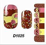 1 Sheet Good-looking Popular Hots Nail Art Wraps Sticker Decoration Tips DIY Decals Varnish Kit Fashion Style D1025