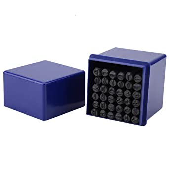 Kit de poin/çons en m/étal et en cuir,36pcs set 6mm en acier Alphabet en acier Lettre /& Chiffre Stamp Punch Die Kit doutils