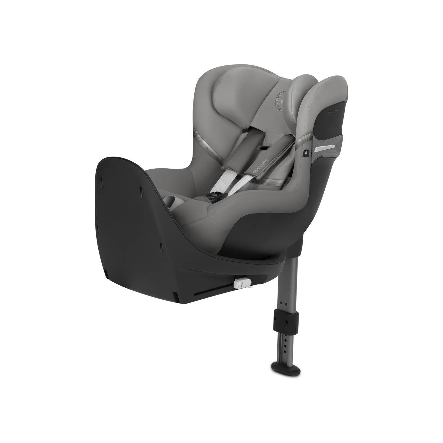 CYBEX Gold Sirona S i-Size Child´s Car Seat, 360° Rotation for easy entry and exit position, Group 0+/1 (max 18kg) From birth up to approx. 4 years (45 cm to 105 cm), Soho Grey