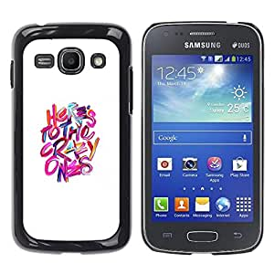 Be-Star Único Patrón Plástico Duro Fundas Cover Cubre Hard Case Cover Para Samsung Galaxy Ace 3 III / GT-S7270 / GT-S7275 / GT-S7272 ( Crazy Ones White Pink Purple Inspiring )