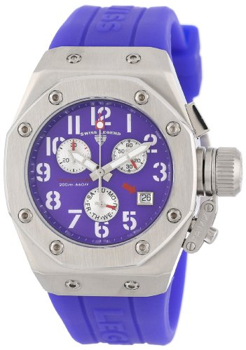 Swiss Legend Women's 10535-011 Trimix Diver Chronograph Purple Dial Purple Silicone Watch
