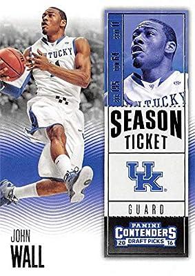 John Wall basketball card (Kentucky Wildcats) 2016 Panini Draft Picks Season Ticket #46