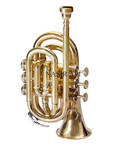 Nasir Ali PoTr-05, Pocket Trumpet, Bb, Brass by Nasir Ali (Image #1)