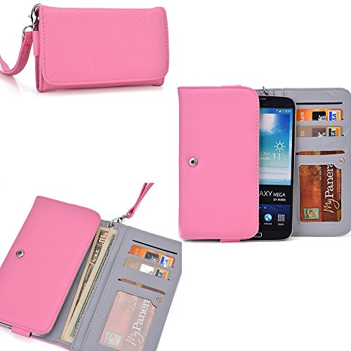 Lenovo Vibe Z2 - Universal Ladies phoneholder/wallet- Internal ID window-Wristlet strap included