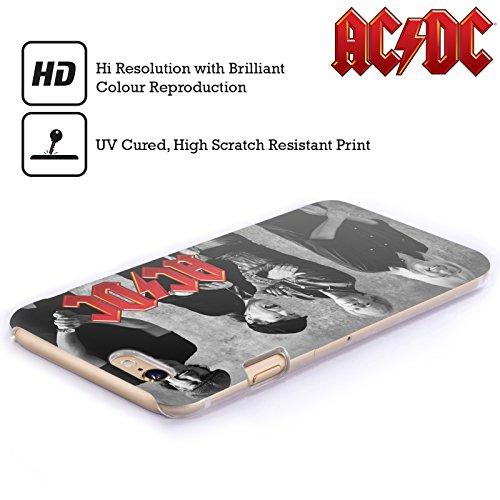 Officiel AC/DC ACDC Noir Et Blanc Photo De Groupe Étui Coque D'Arrière Rigide Pour Apple iPhone 6 Plus / 6s Plus