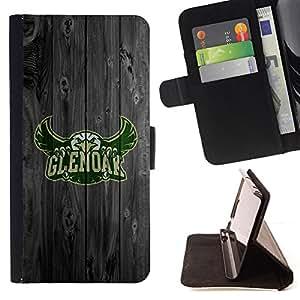 BullDog Case - FOR/Sony Xperia M2 / - / Glen oak Football Eagle /- Monedero de cuero de la PU Llevar cubierta de la caja con el ID Credit Card Slots Flip funda de cuer