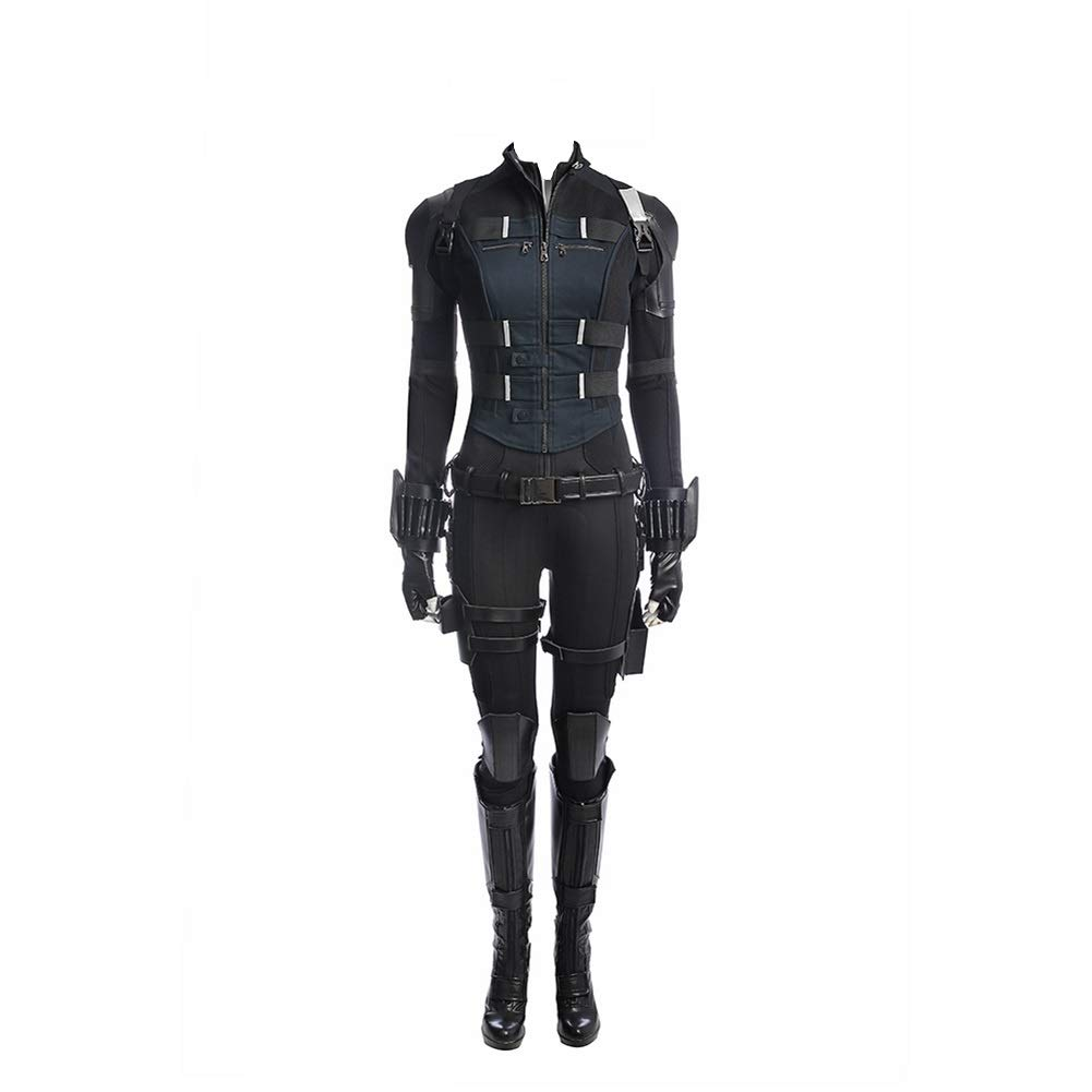 Womens Black Costume Widow Cosplay Halloween Full Set Outfits L