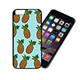 [TeleSkins] - Aqua Pineapple Pattern Cute Hipster - iPhone 6 / 6S Plastic Case - Ultra Durable Slim & HARD PLASTIC Protective Vibrant Snap On Designer Back Case / Cover for Girls. [iPhone 6 & 6S]