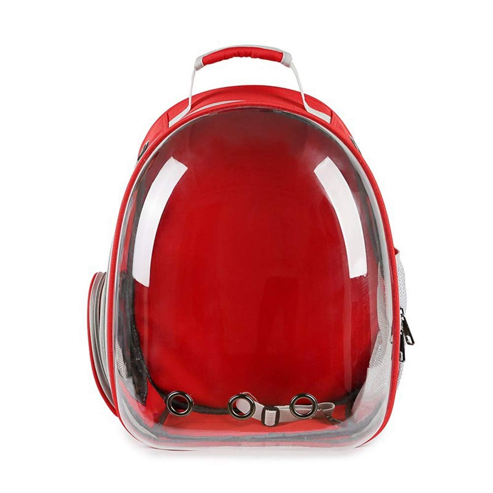 Red 312842cm Red 312842cm HYUE Breathable Sheer Dog Backpack Out of The Portable Space Capsule Cat Bag Pet Backpack (color   Red, Size   31  28  42cm)