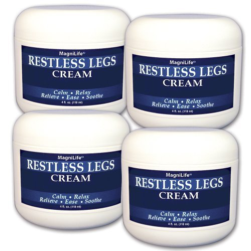MagniLife Restless Legs Syndrome Cream - Set of 4 - 4oz. Jars