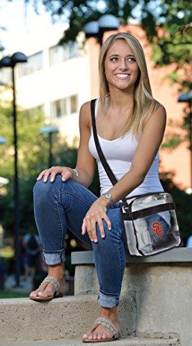 NCAA USC Trojaner Alt Reisetasche Crossbody Tasche, transparent, One size