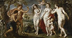 The high quality polyster Canvas of oil painting 'Rubens Peter Paul The Judgement of Paris 1638 39 ' ,size: 24 x 46 inch / 61 x 117 cm ,this Reproductions Art Decorative Canvas Prints is fit for Wall art artwork and Home gallery art and Gifts