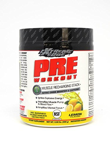 Edge Powder - Bluebonnet Nutrition Extreme Edge Pre Workout Powder, Lemon Flavor, 0.66 Pound