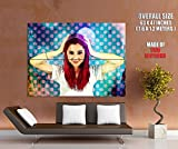 Ariana Grande Beautiful Pop Art Awesome Vintage Painting Music 63x47 Huge Giant Poster Print