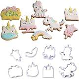 Rocita 8pcs / Set Unicornio de la Galleta de la Galleta Cortadores de anidamiento de plástico Anillo de Cookies Juego de Corte…