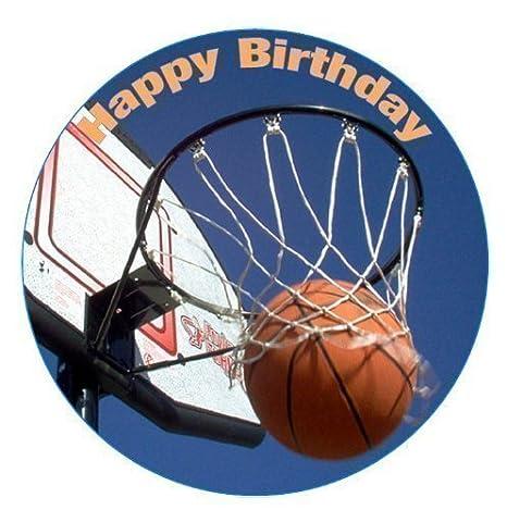 Amazon.com: Baloncesto Feliz cumpleaños Ronda 7.5 ...