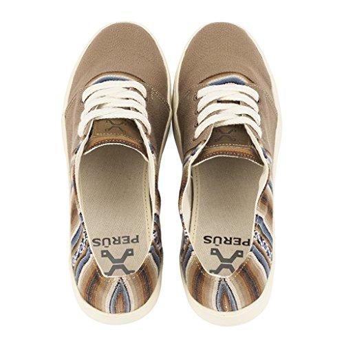 Main Et Éthiques La À Perús Péruviens Chaussures Motifs Pour Sneakers Beige Artisanales Femmes Bajo Fabriquées Traditionels Hommes Ampato pBHUzq