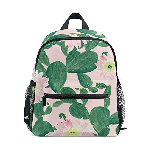 Kids Cactus Backpack School ZZKKO for Girls Floral Kindergarten Bag Boy Toddler Pre 7wE57qU